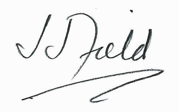 Joseph J Field's Signature