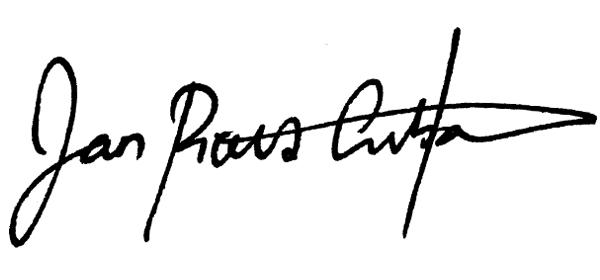 Jan Pious Grubat's Signature