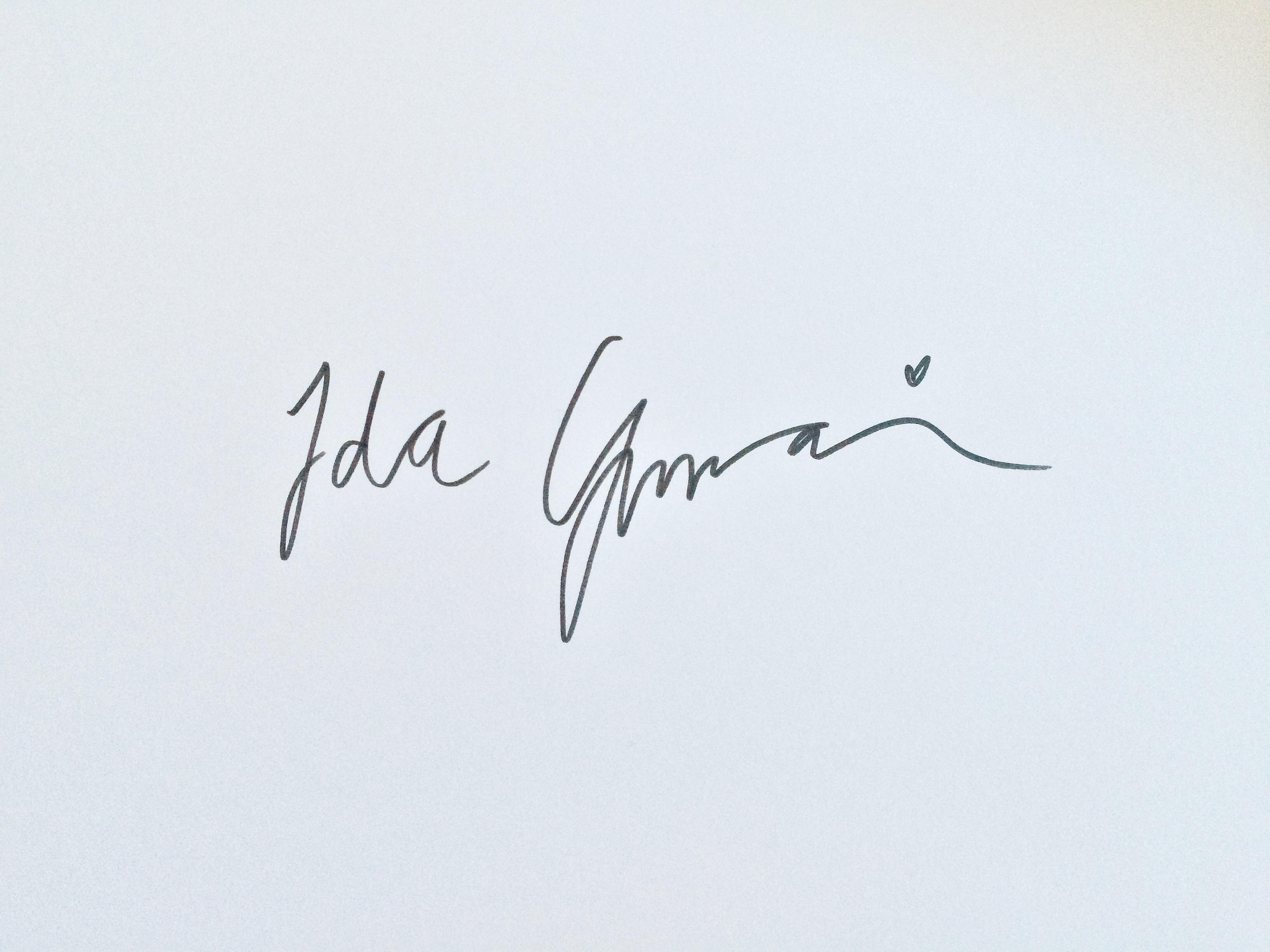 Ida  Ginman's Signature