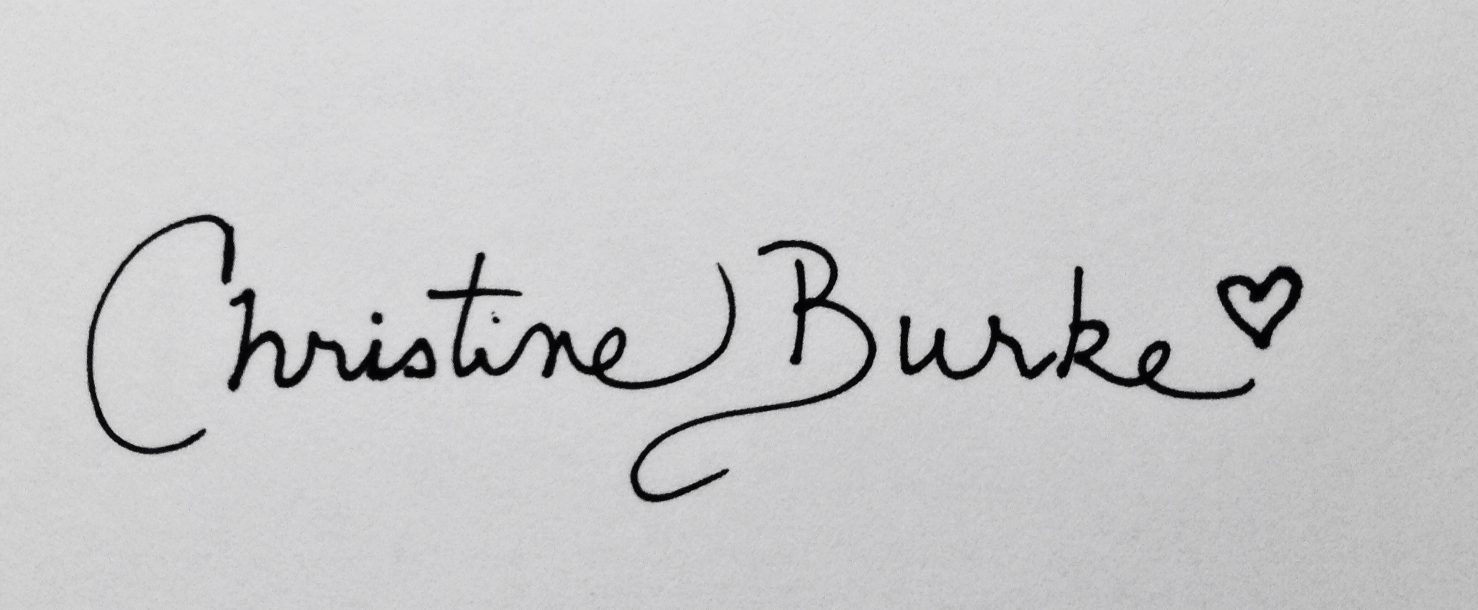 Christine Burke's Signature