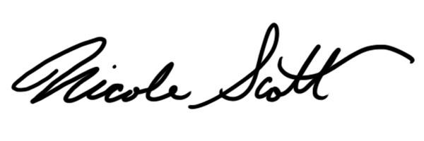 Nicole Scott's Signature