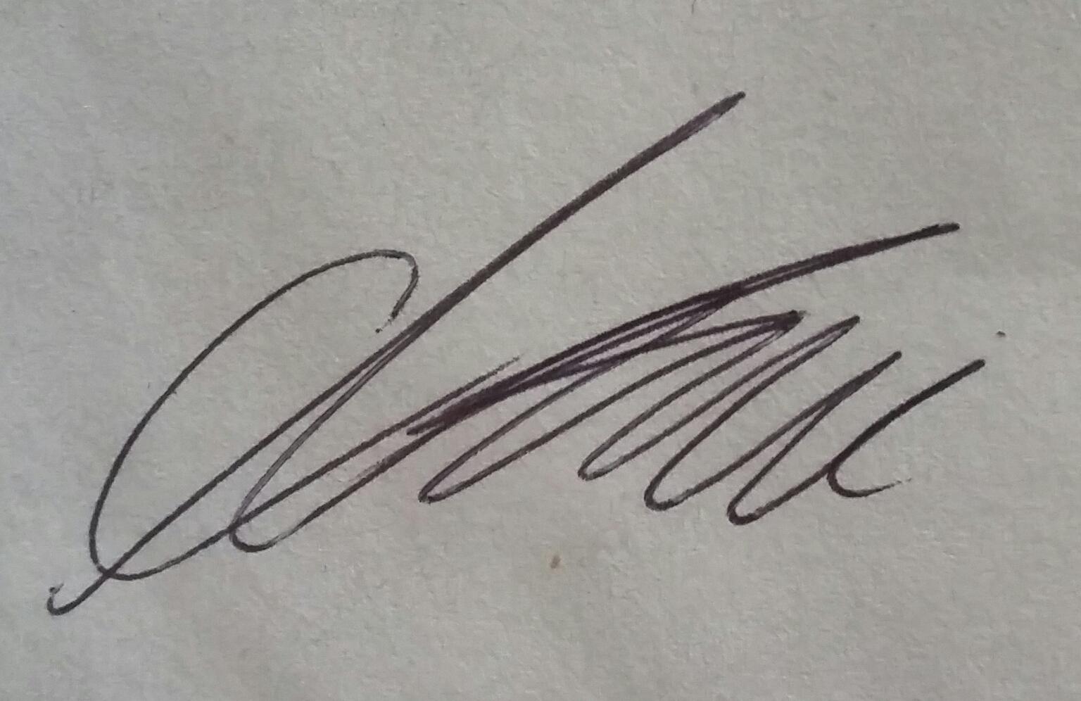 Cameron Gilham's Signature