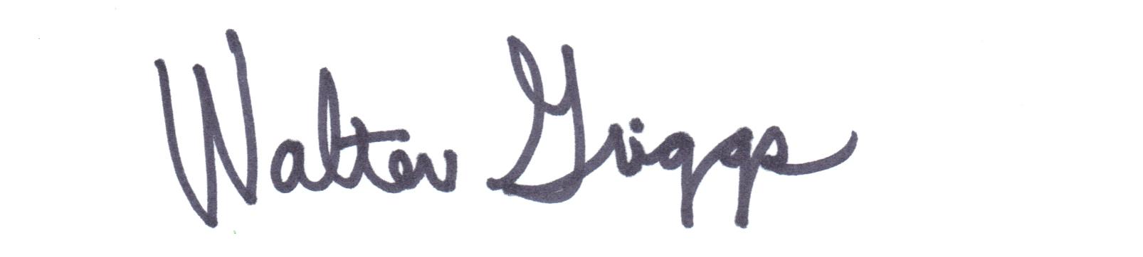 Walter Griggs's Signature