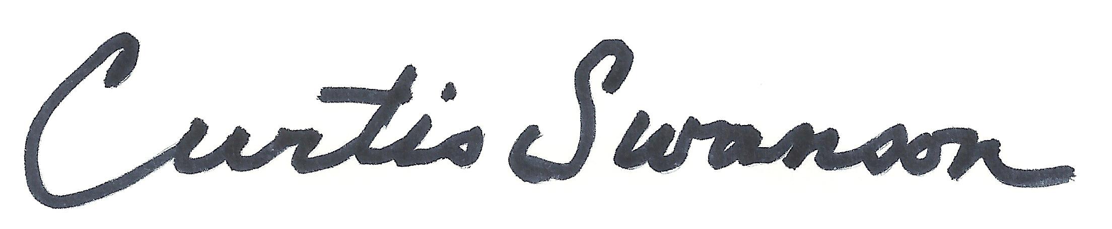 Curtis Swanson's Signature