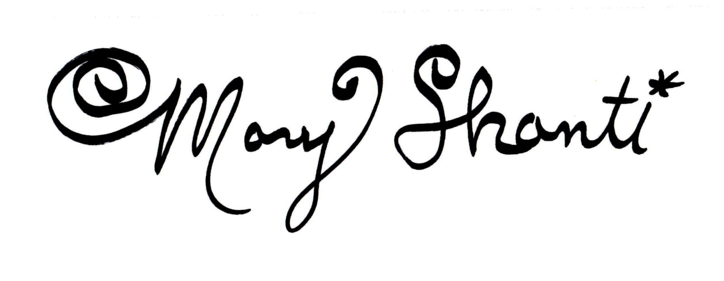 Mary Shanti's Signature