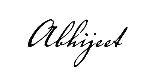 abhijeet sinha's Signature