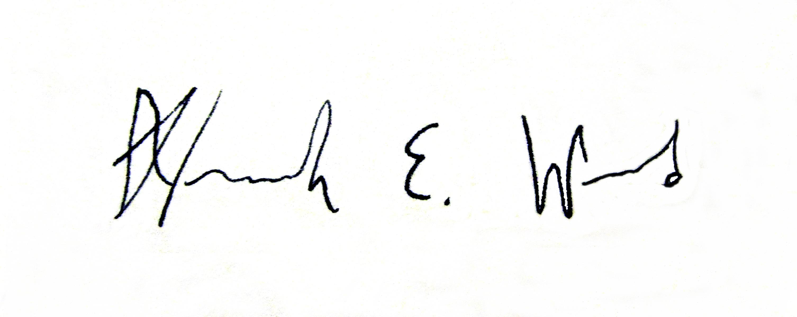 Hannah Ward's Signature