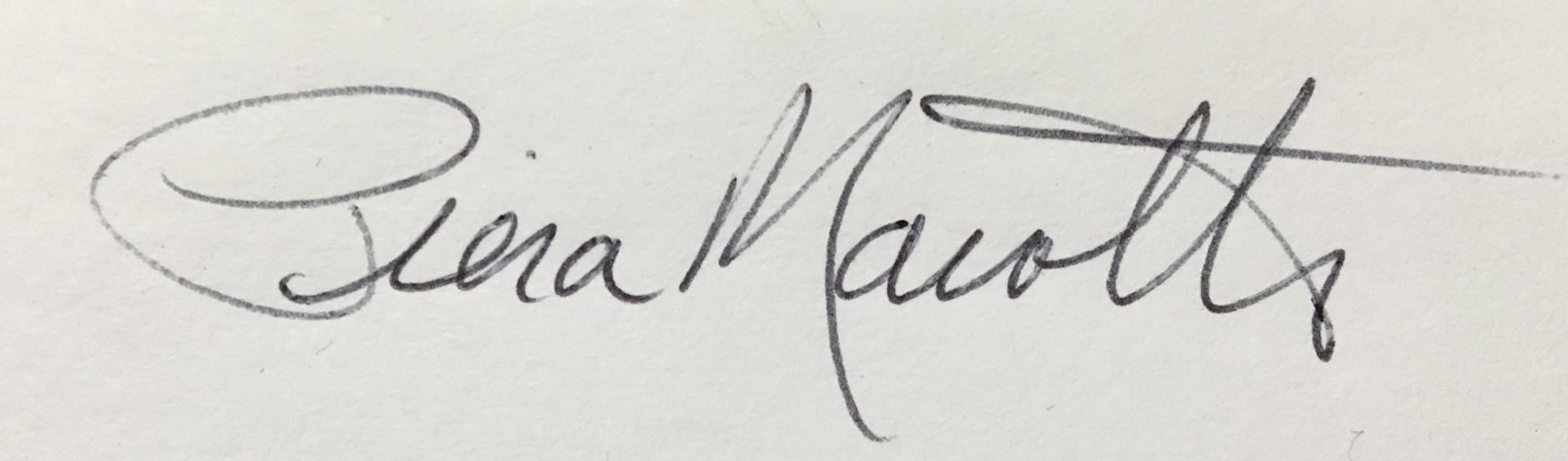 Piera Marotto's Signature