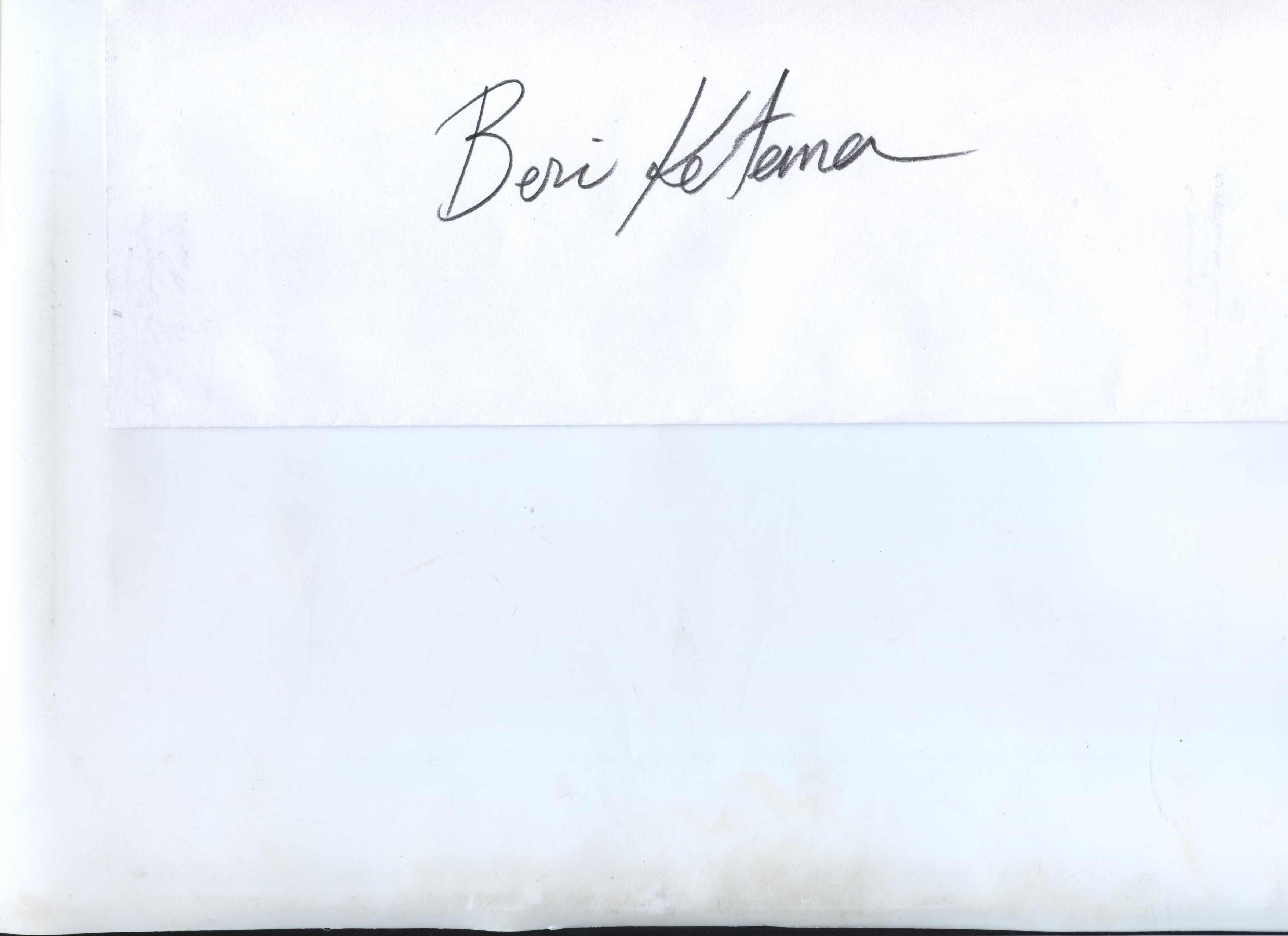 Beri Ketema's Signature