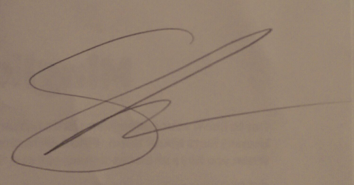 Shiree farmer's Signature