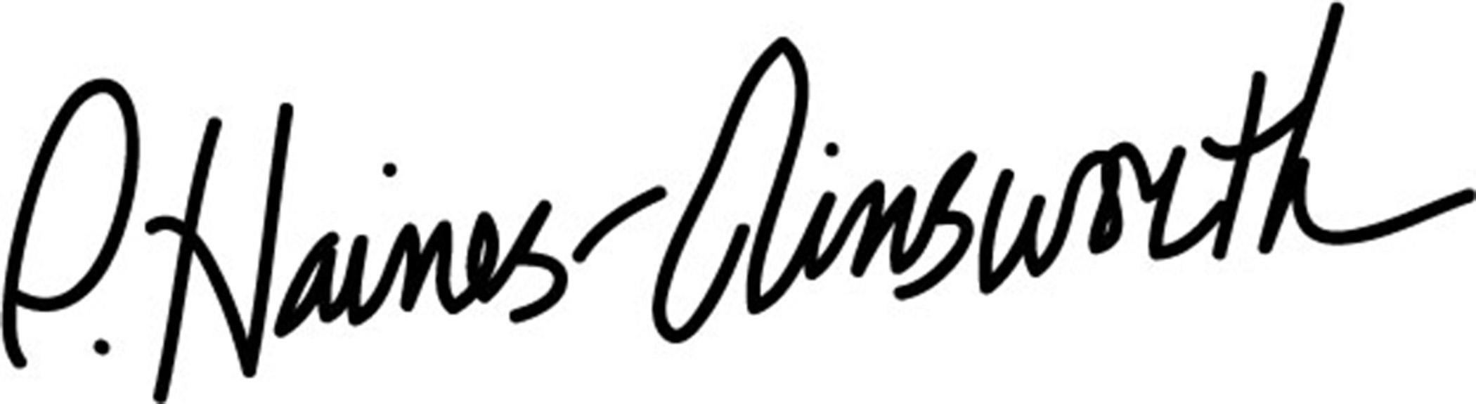 Patricia Haines-Ainsworth's Signature