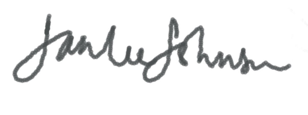Jan lee  Johnson's Signature