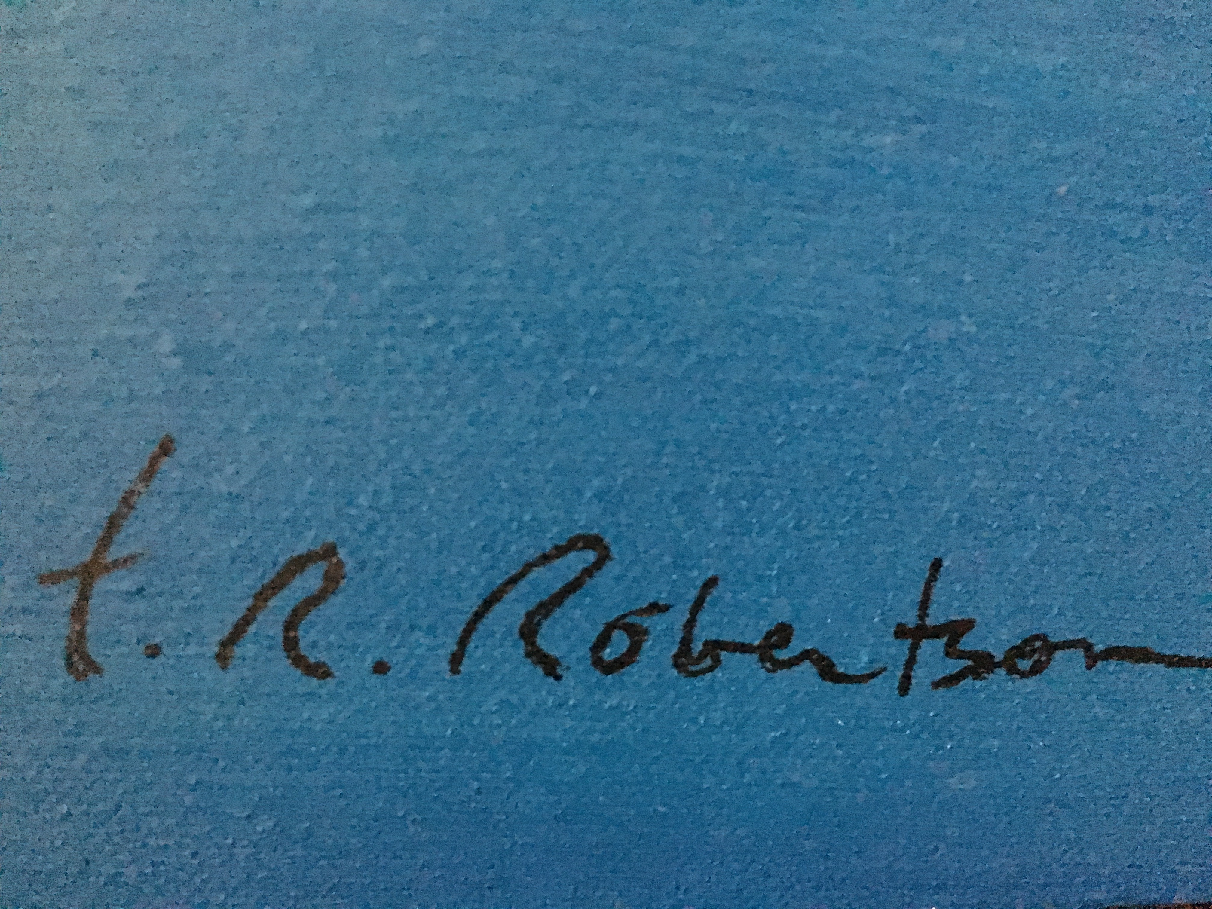 T. R. Robertson's Signature
