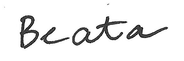 Beata Wehr's Signature