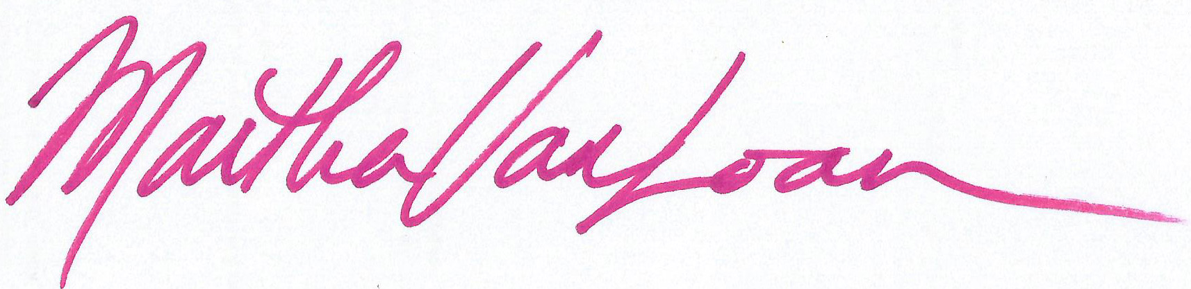 Martha Van Loan's Signature
