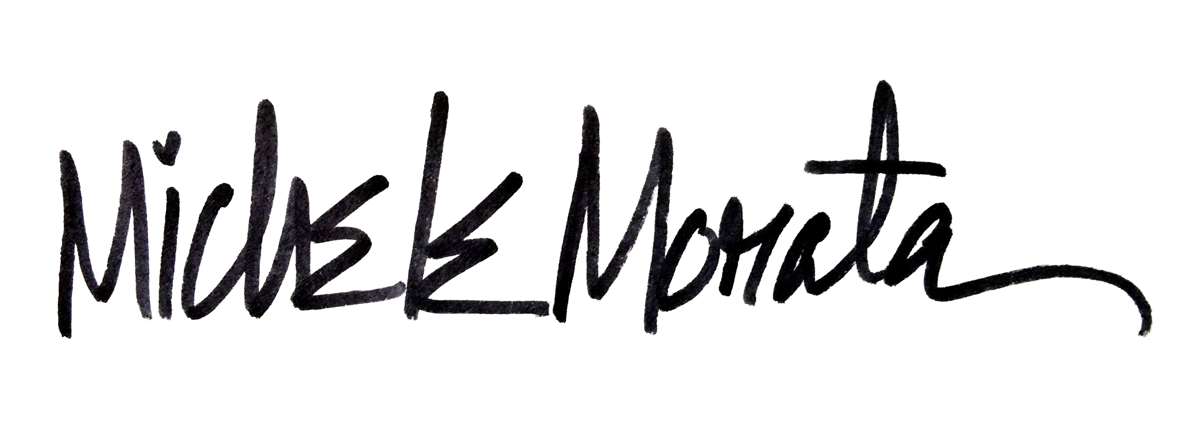 michele morata's Signature