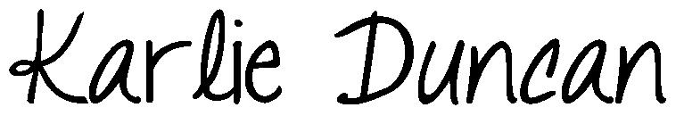 Karlie Duncan's Signature