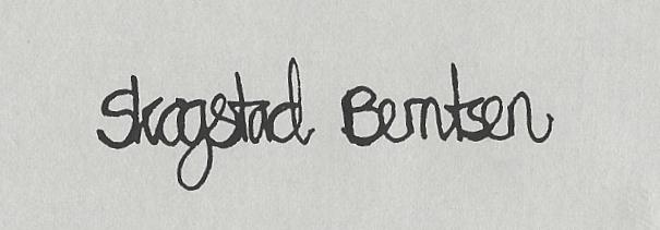 Siri  Skogstad berntsen's Signature