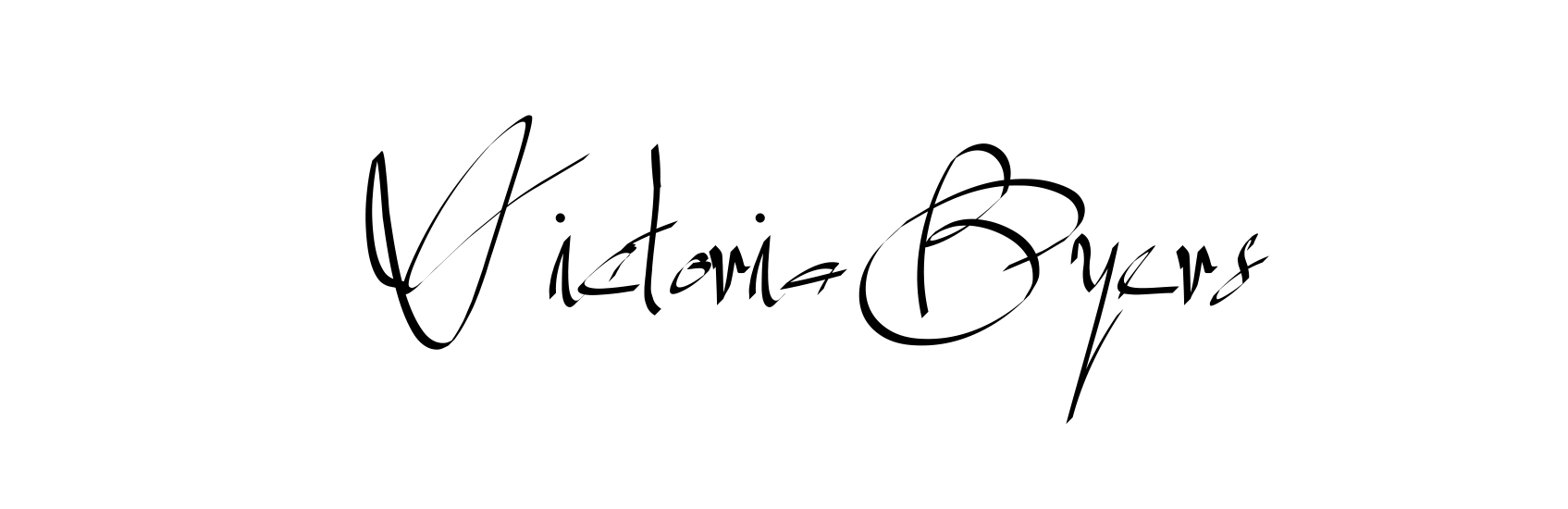Victoria Byers's Signature