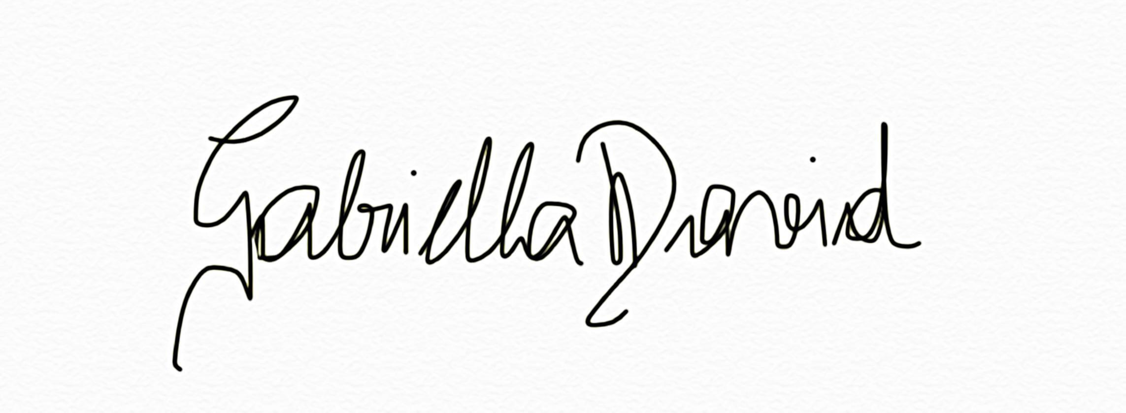 Gabriella David's Signature