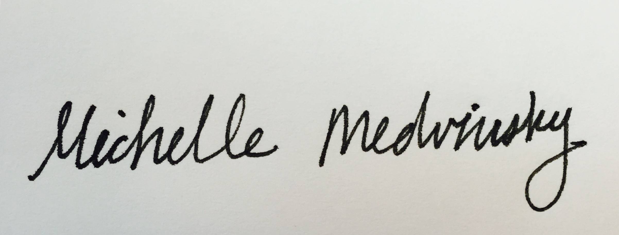 Michelle Medvinsky's Signature