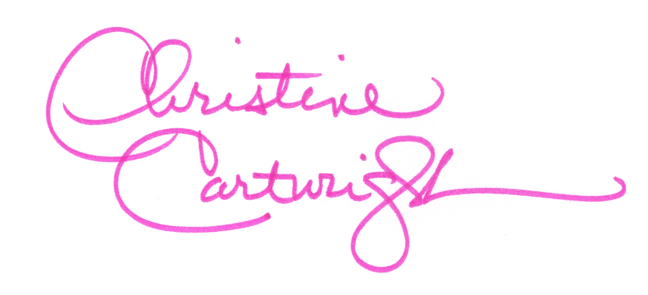 Christine Cartwright's Signature