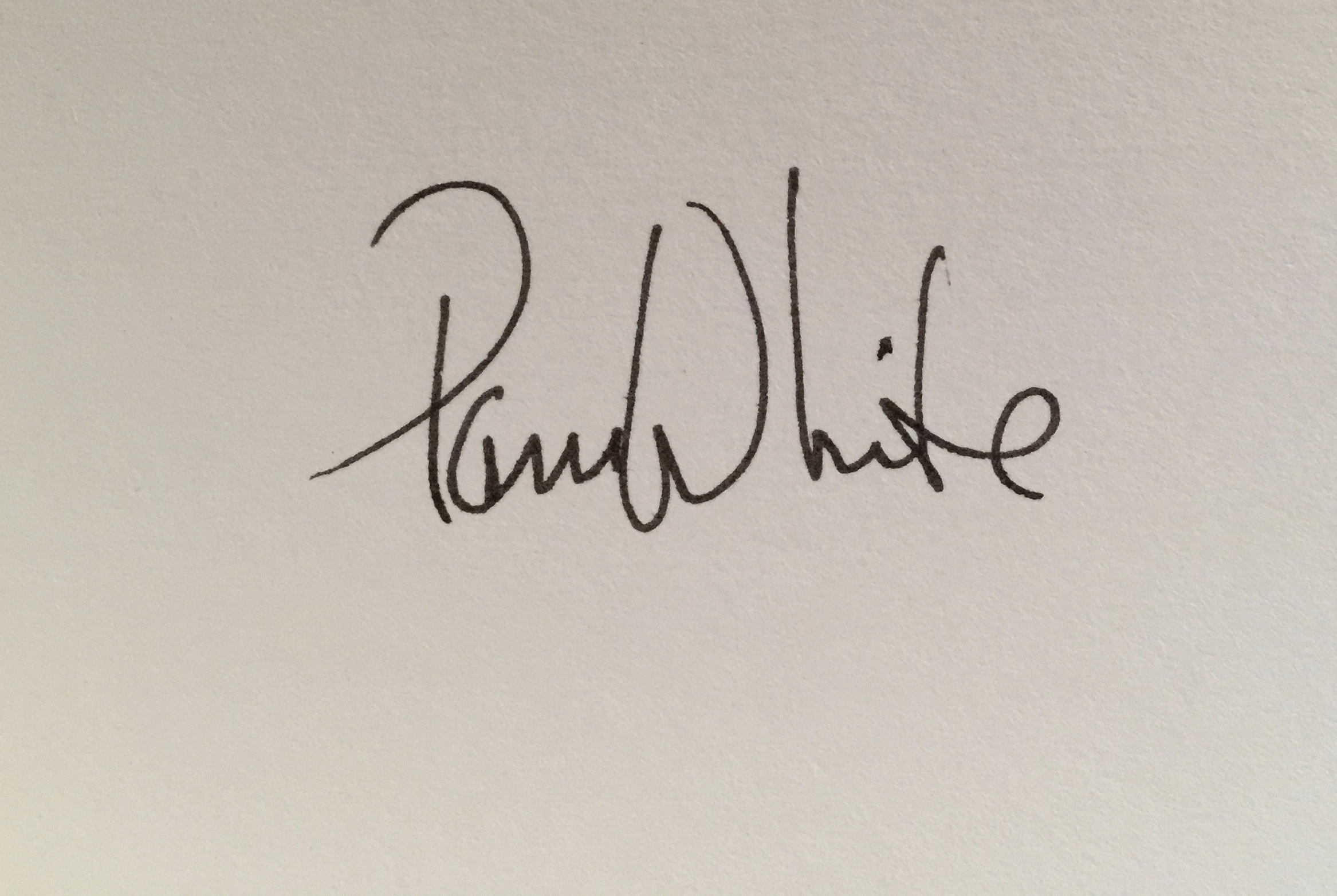 Pam White's Signature