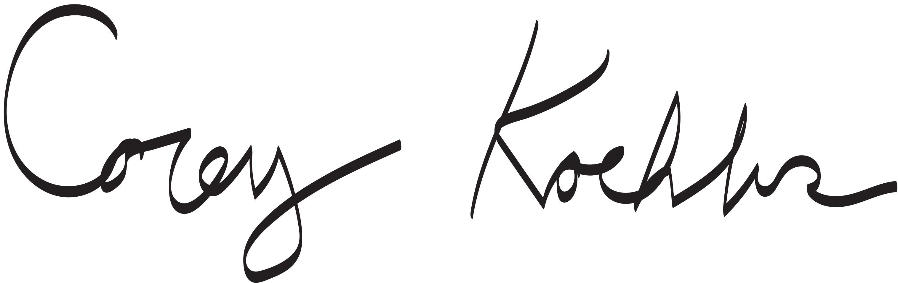 Corey koehler's Signature