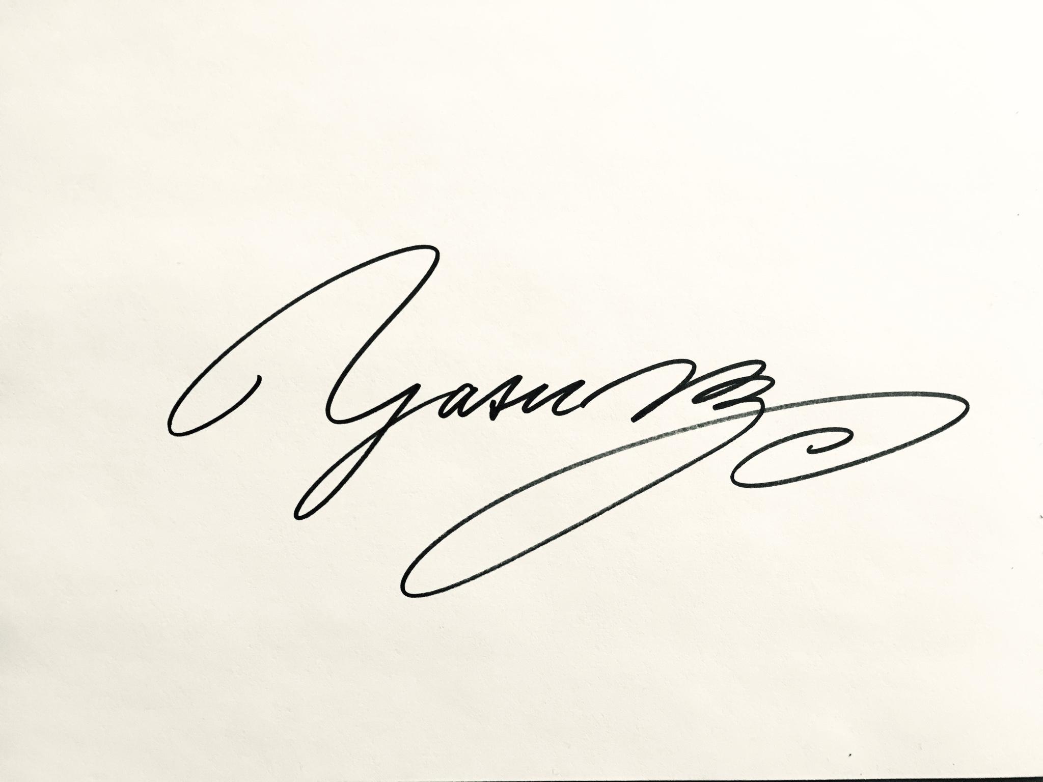 Y A S U's Signature