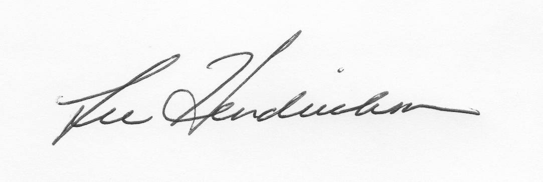 Lee Hendrickson's Signature