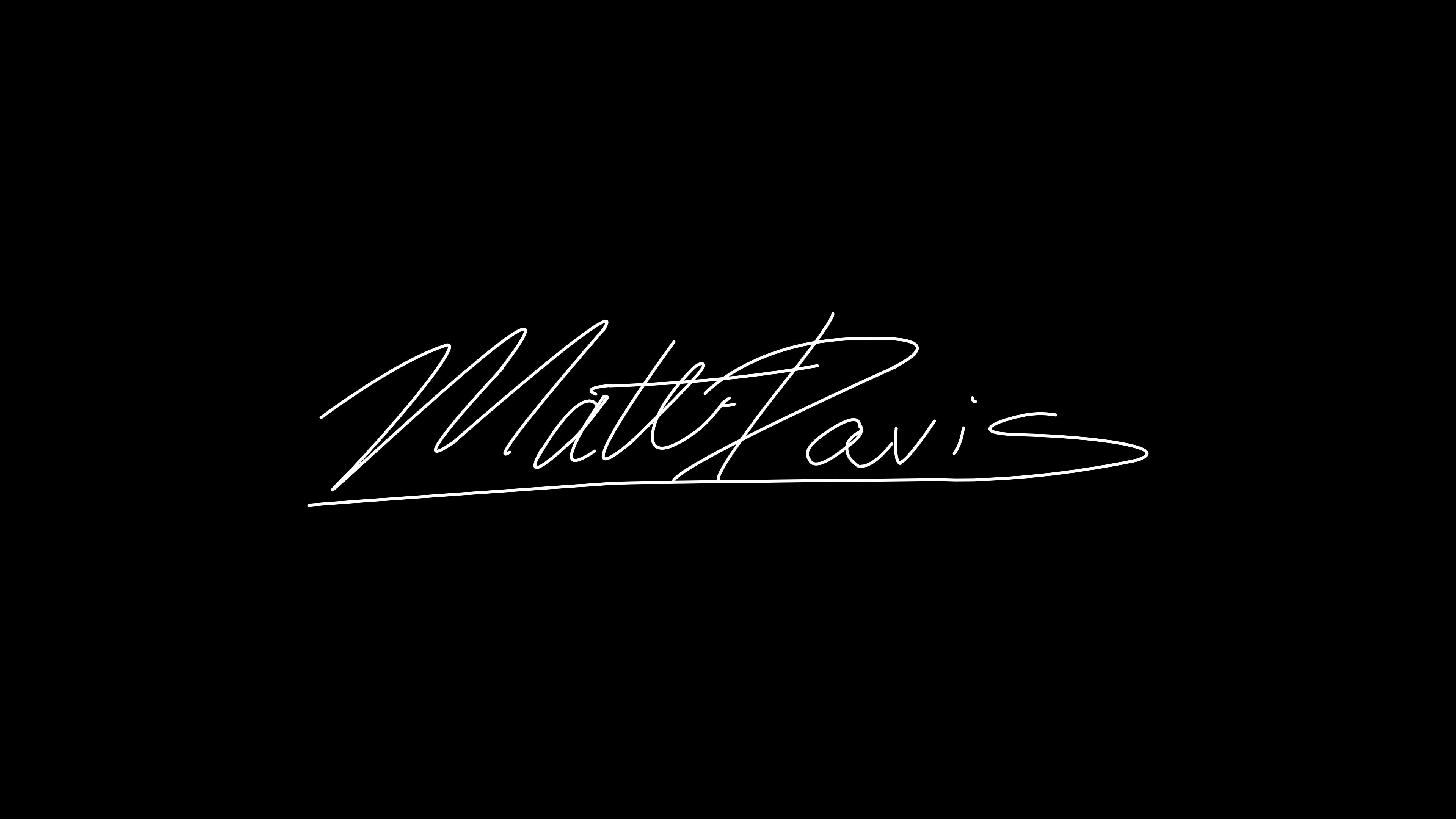 Matt Davis's Signature