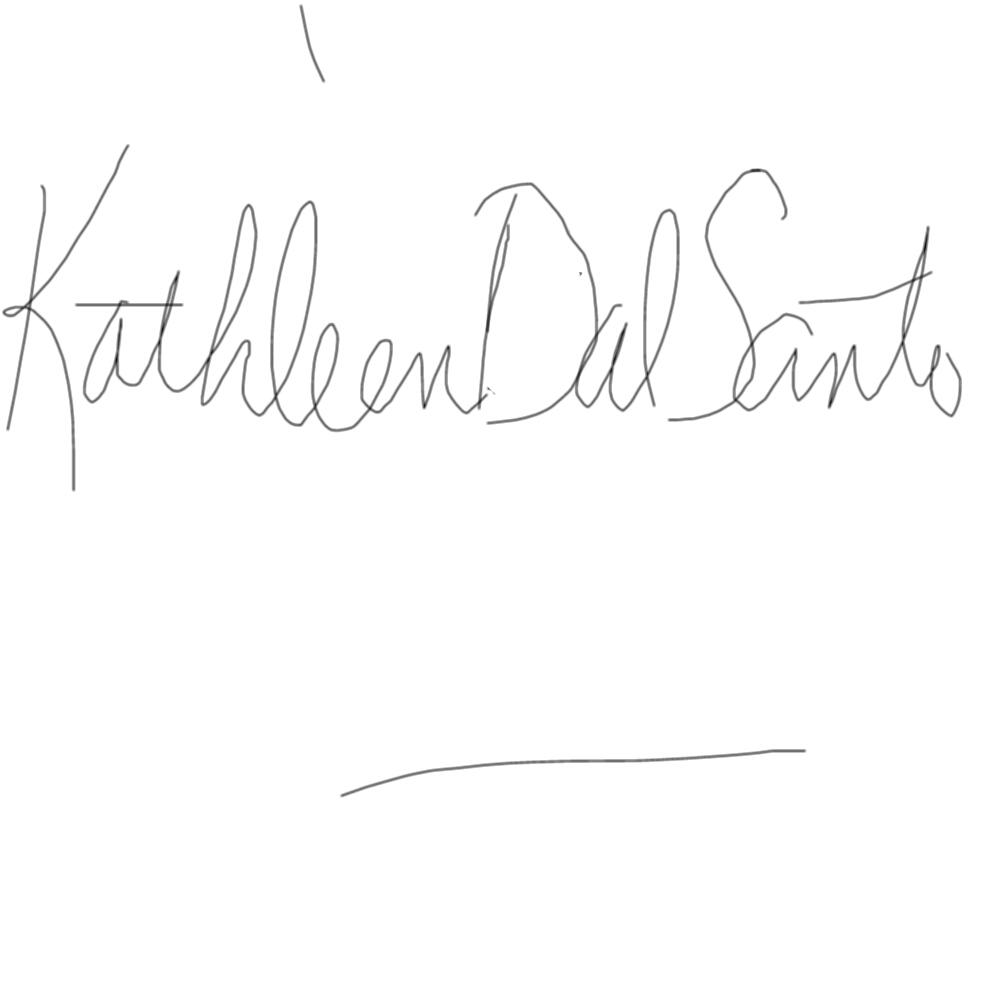 Kathleen Dal Santo's Signature