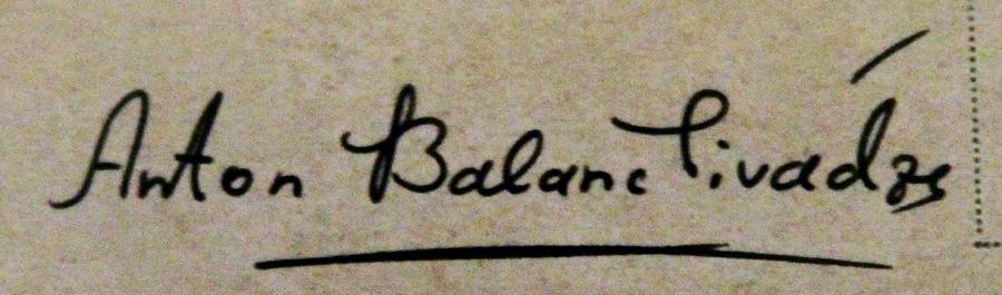 Anton  Balanchivadze's Signature