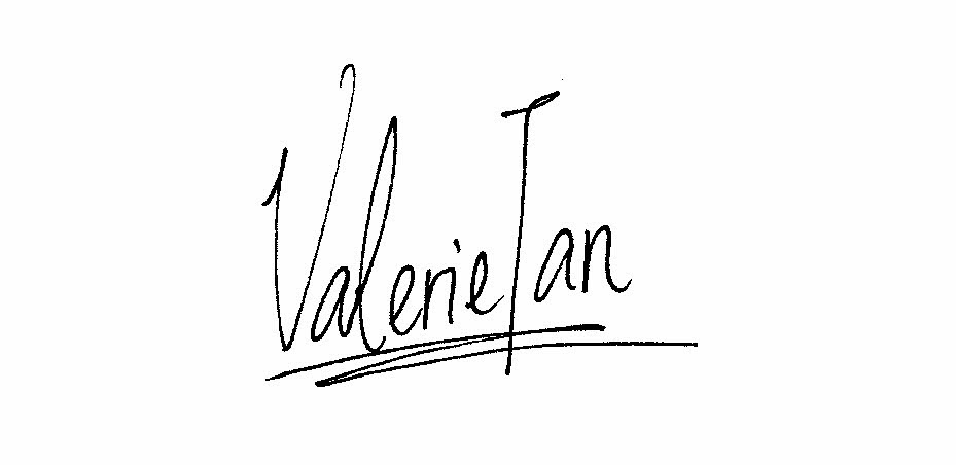 Valerie Tan's Signature