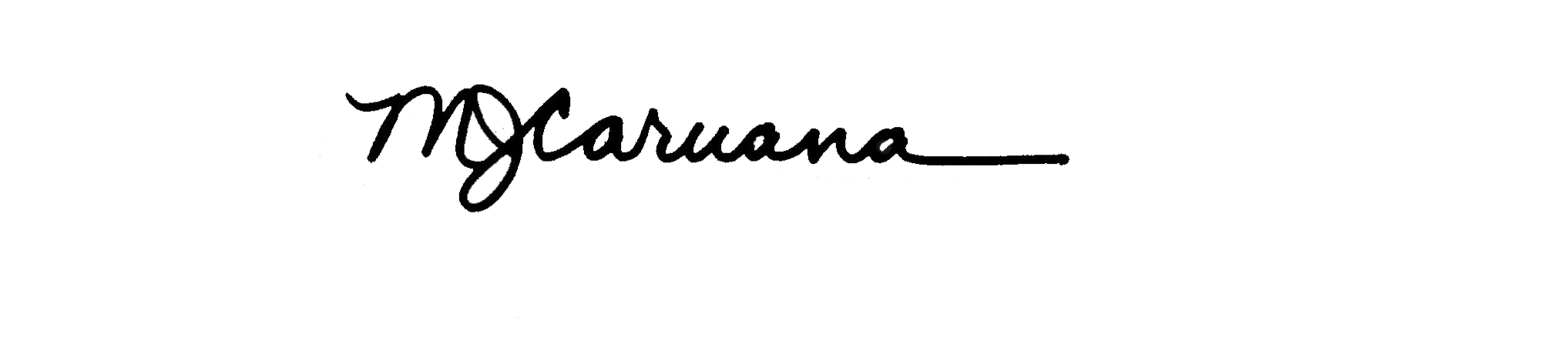 Mary Jo Caruana's Signature