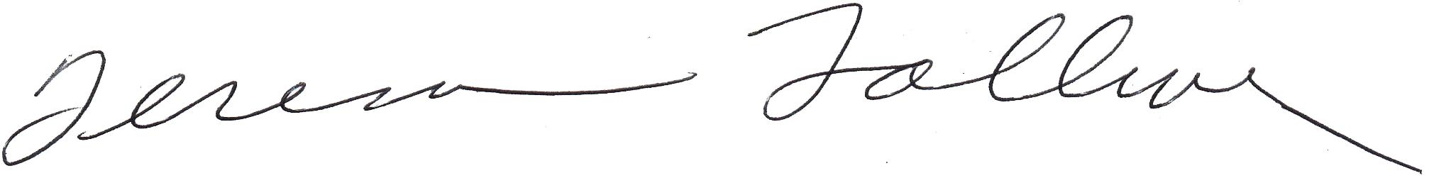 Teresa Tolliver's Signature