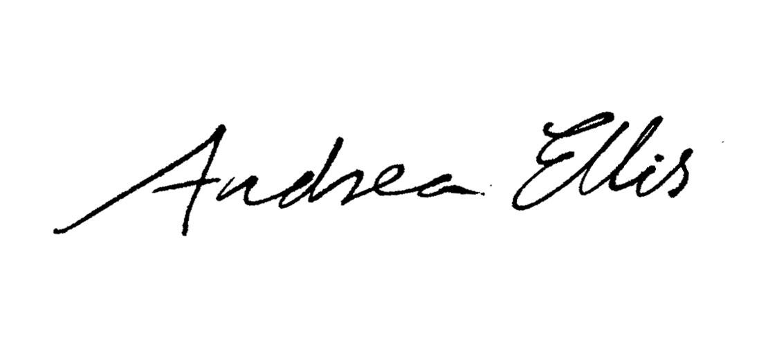 Andrea Ellis's Signature