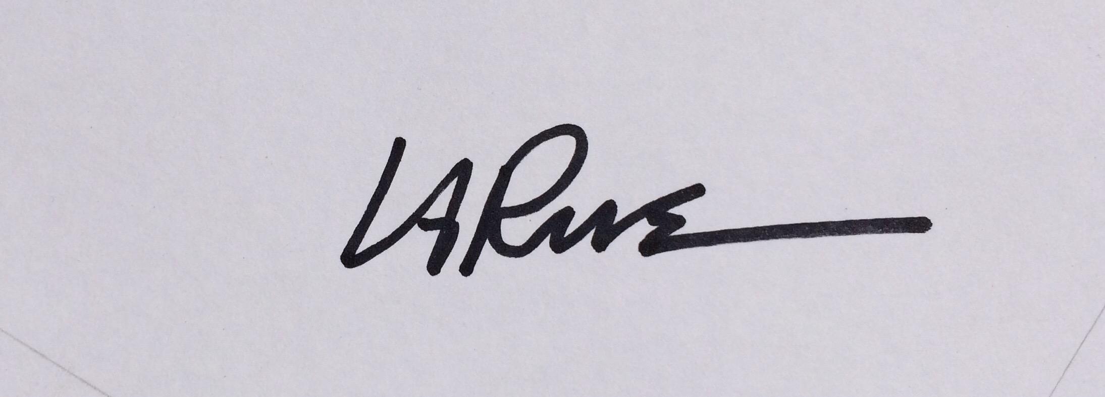 Ron LaRue's Signature