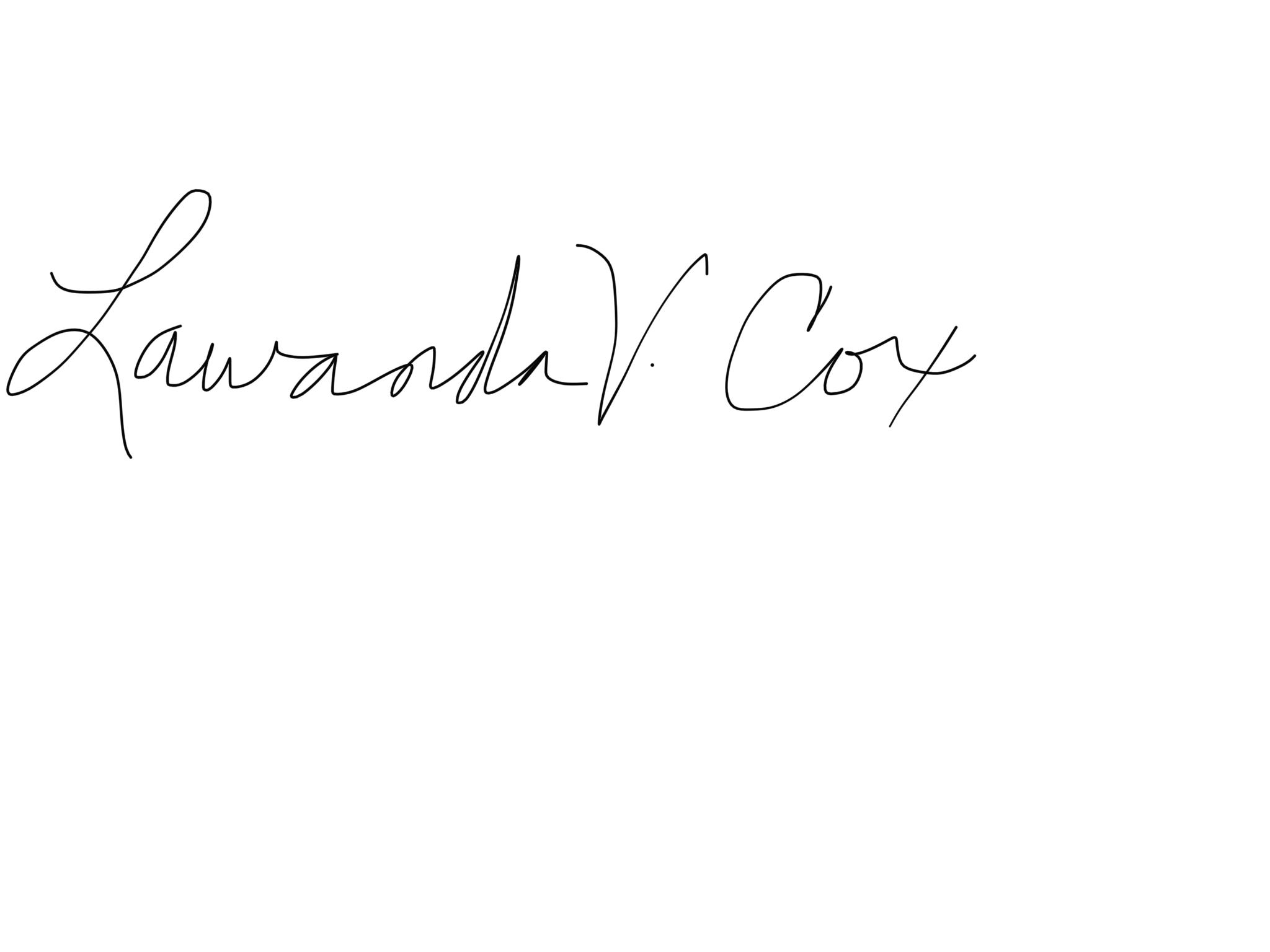 Lawanda Cox's Signature