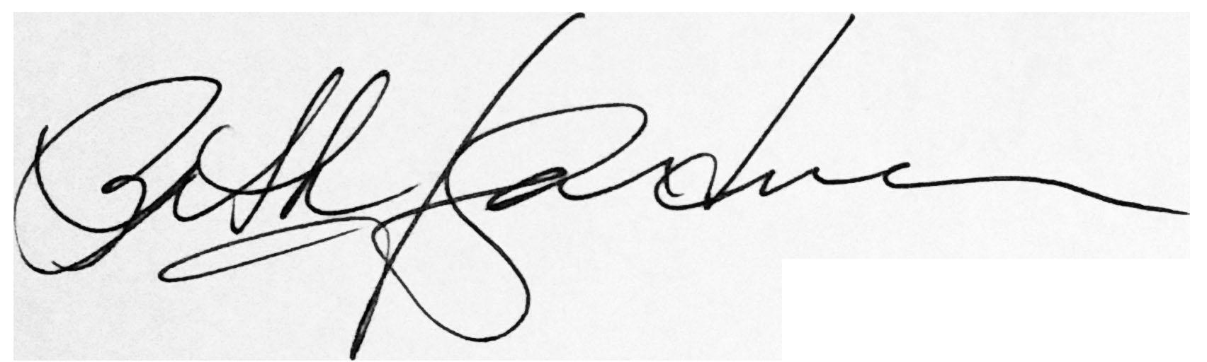 Beth Gardner's Signature