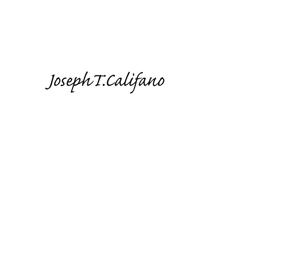 Joseph Califano's Signature