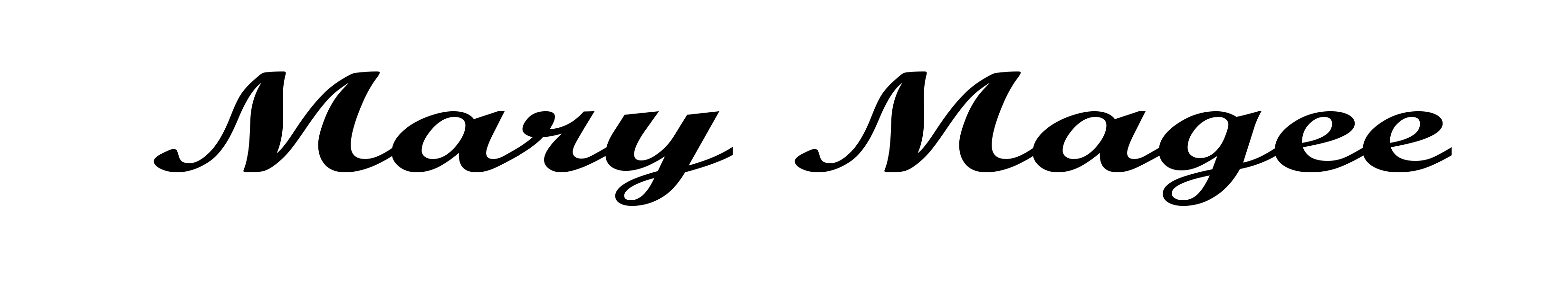 Mary Magee's Signature