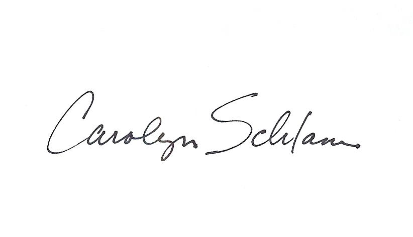 Carolyn Schlam's Signature