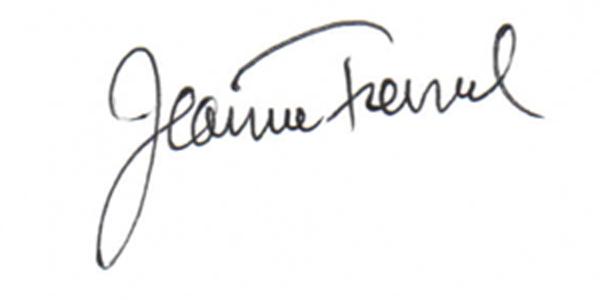 Jeanne Tremel's Signature