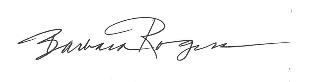 Barbara Rogers's Signature