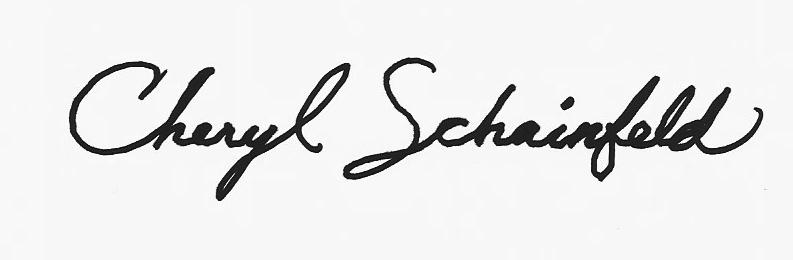 Cheryl Schainfeld's Signature