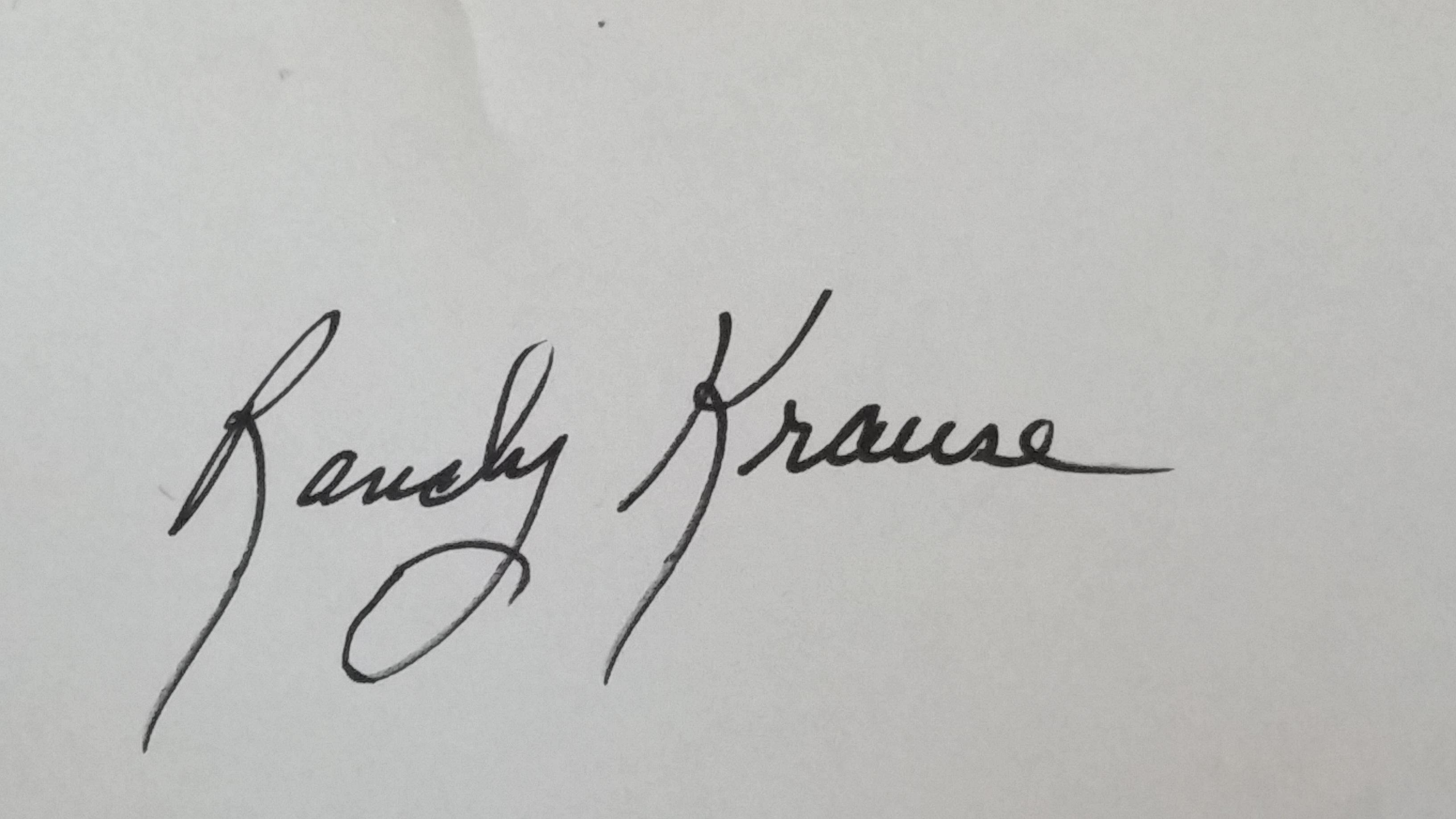 Randy Krause's Signature