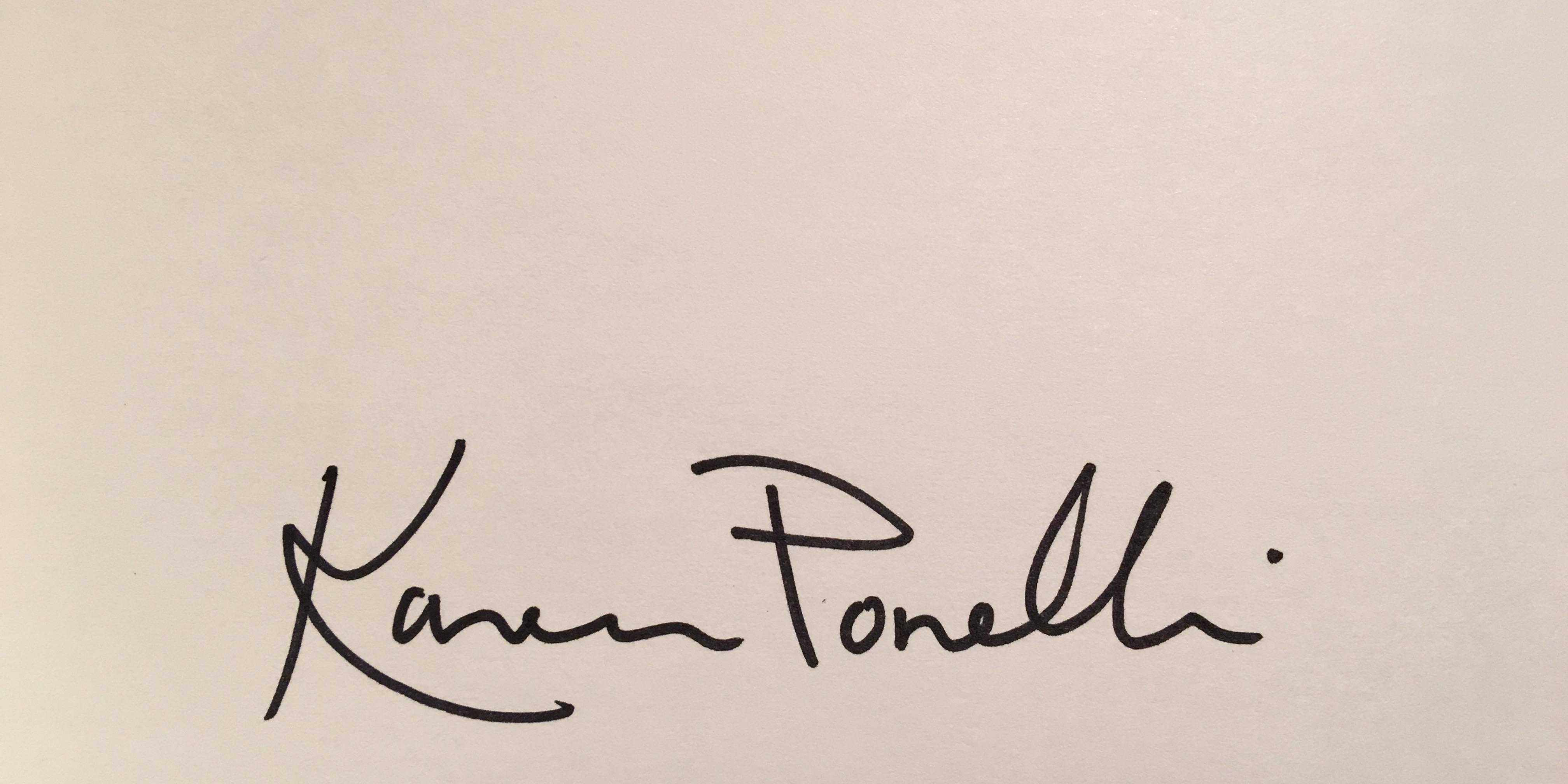Karen Ponelli's Signature
