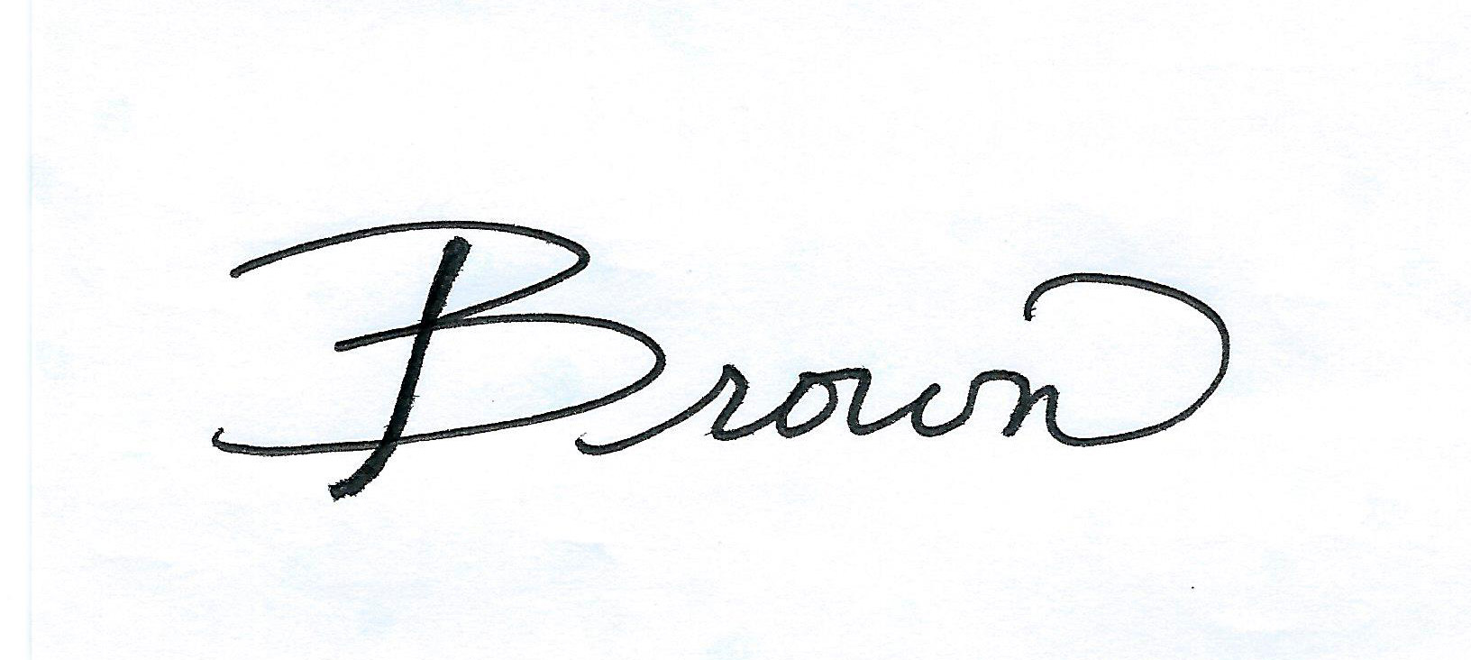 Laurie Brown's Signature