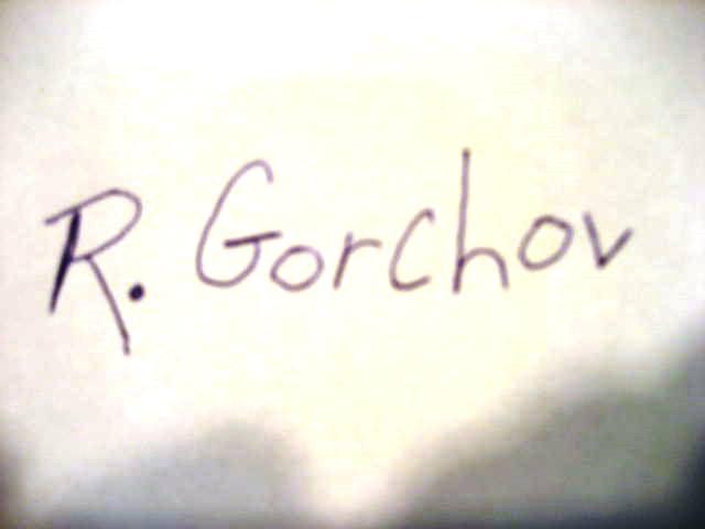 Robert Gorchov's Signature